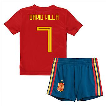 2018-19 Spagna casa Mini Kit (David Villa 7)