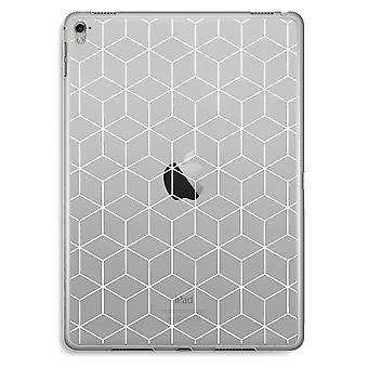 iPad Pro 9,7 inch Transparent Case - Cubes black and white