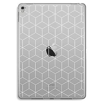iPad Pro 9,7 inch transparant Case (Soft) - kubussen zwart en wit