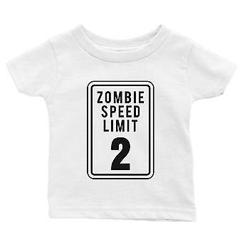 Zombie Speed Limit Baby Gift Tee White