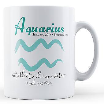 Aquarius Sterne Zeichen Bedeutung - Becher bedruckt