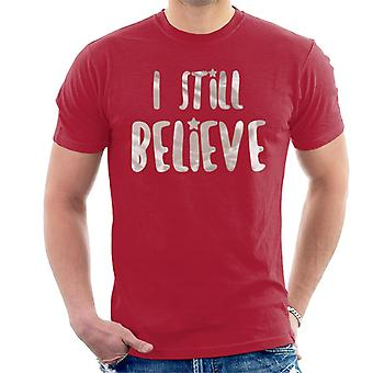 Ich glaube immer noch Weihnachten Herren T-Shirt