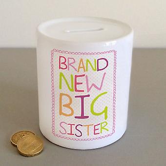 Brand New Big Sister  Ceramic Keepsake Money Box