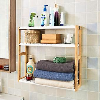 SoBuy 3-Tier Kitchen Wall Storage Rack with Hook ,FRG28-WN
