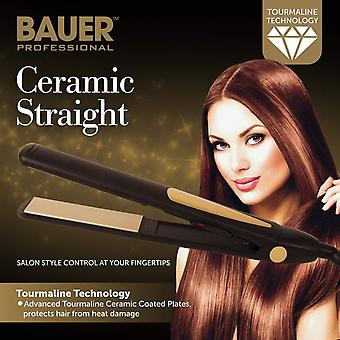 Bauer Professional 220-240V Tourmaline Ceramic Hair Straightener
