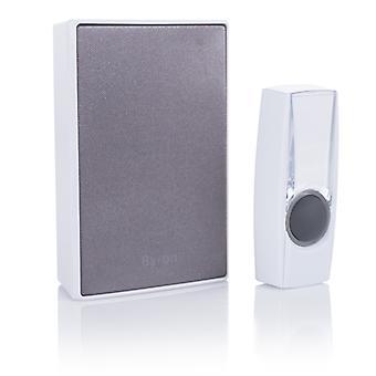 Byron BY601E drahtlose Türklingel Set weiß/grau