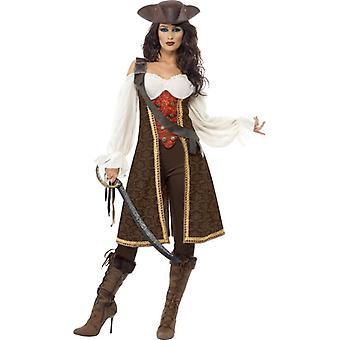 High Seas Pirate Wench Costume, UK Dress 8-10
