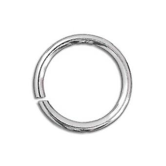 Packet 450+ Silver Plated Iron Round Open Jump Rings 0.7 x 7mm HA02210