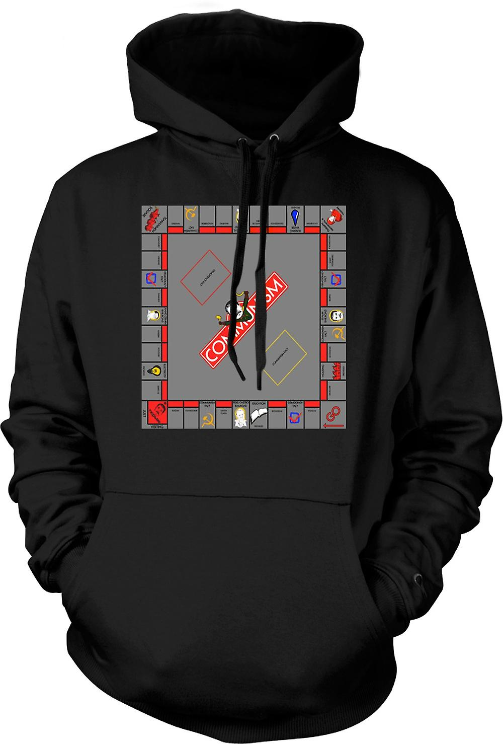 Mens Hoodie - Monopoly Communist Version - Funny