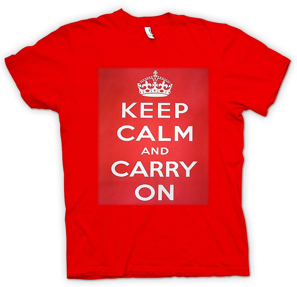 T-shirt des hommes - Keep Calm and Carry On