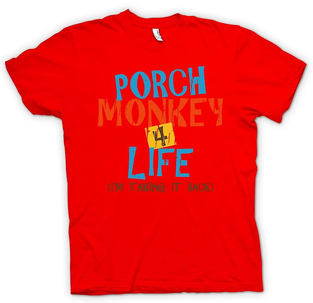 Mens T-shirt - Porch Monkey 4 Life - Clerks Inspired