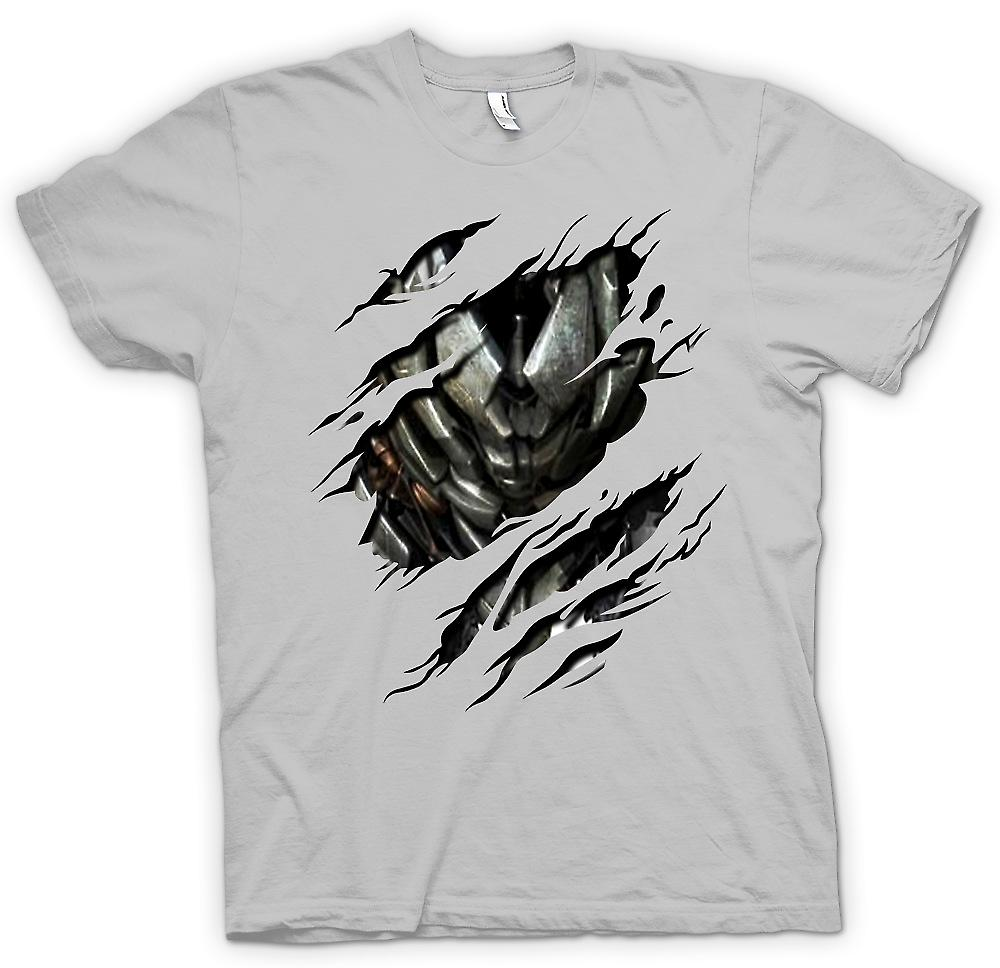 Mens T-shirt - Megatron Ripped Design - Transformers Inspired