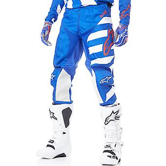 Alpinestars Blue-White-Red 2019 Racer Braap MX Pant