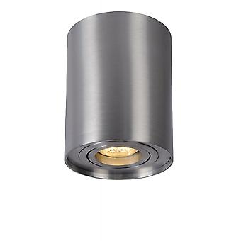 Inspiracja Tube nowoczesnym cylindra aluminium Satin Chrome punktowe światło sufitowe