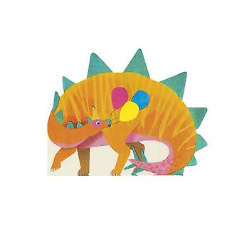 Dinosaur Shaped Party Paper Napkins x 16 Childrens Party