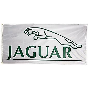 Large Jaguar Flag (white)  1500mm x 900mm (of)
