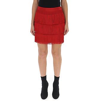 Alberta Ferretti rojo acetato falda