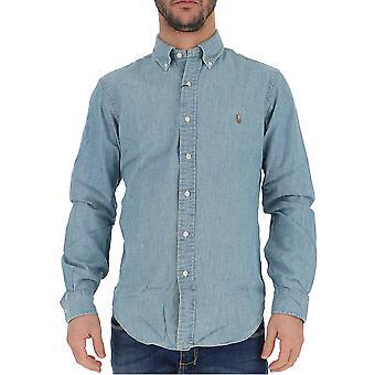 قميص رالف لورين الضوء الجينز الزرقاء