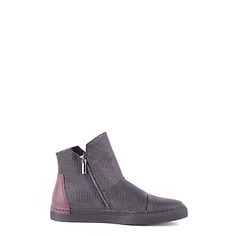 Armani Jeans Black Leather Ankle Boots