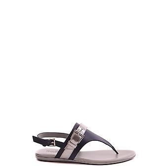 Hogan Blue Leather Sandals