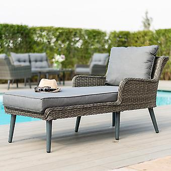 Maze Rattan Florence Corner Sofa Group In Grey Weave