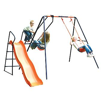 Hedstrom Saturn - Swing, Glider and Slide Set Blue/Orange Ages 3-10 Years
