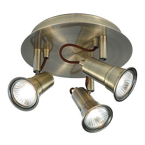 Searchlight 1223AB Eros Traditional Antique 3 X GU10 Halogenlight Plate