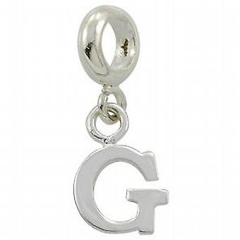 Toc Beadz Sterling Silver Dangle Initial G 2mm Slide-on Bead