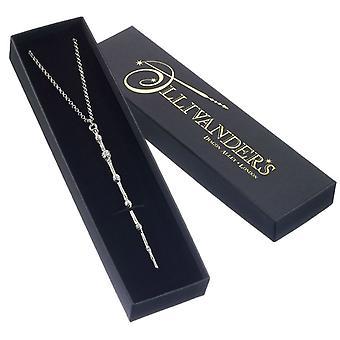 Harry Potter sølv belagt professor Humlesnurr wand halskjede
