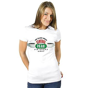 Women's Friends Central Perk Fitted T-Shirt