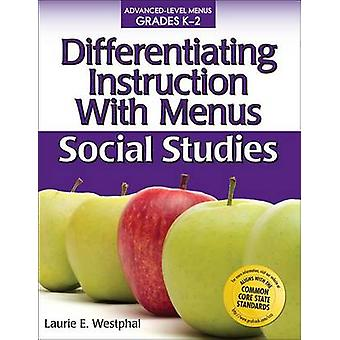 Differentiating Instruction with Menus - Social Studies (Grades K-2) b