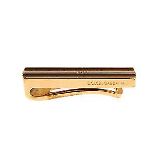 Gold plated brass tie clip