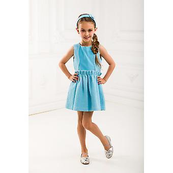 Blau Jacquard Mädchen verkleiden