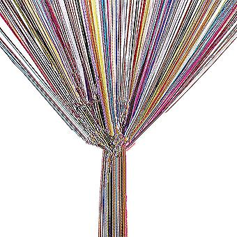 TRIXES String Dew Drop String Vorhang - Glitter Quaste - bunt - Tür oder Fenster Panel 90 x 200cm