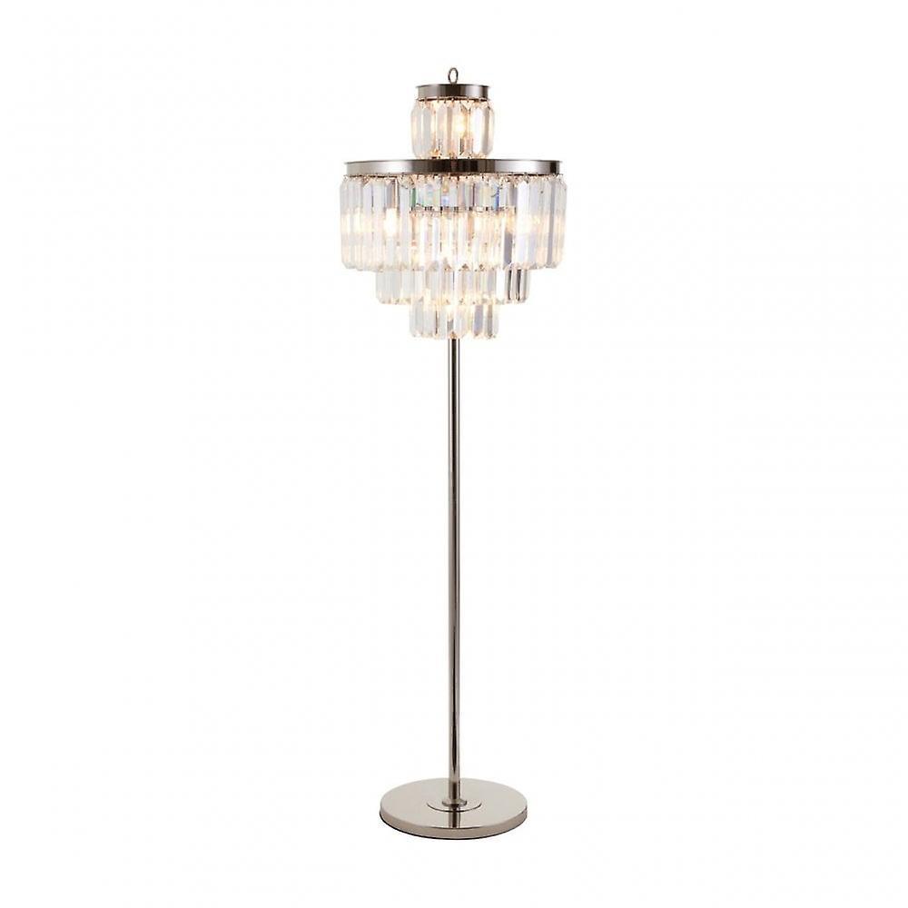 Premier Home Kensington Townhouse Floor Lamp, Crystal, Iron