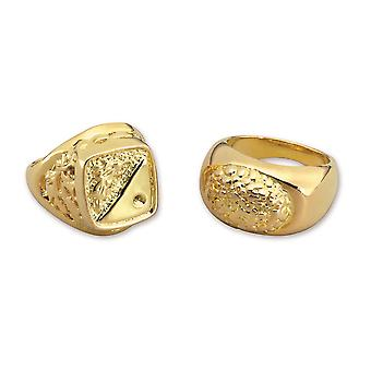 Bristol Novelty Unisex Adults Assortment Of Sovereign Rings (Pack Of 24)