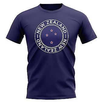 Neuseeland Fußball Abzeichen T-Shirt (Navy)