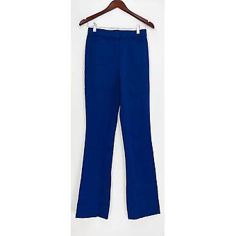 Isaac Mizrahi Live! Women's Pants 0T Tall 24/7 Stretch Boot Cut Blue A279255