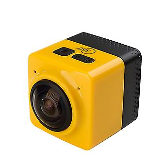 Mini wifi 360 degree panoramic wide angle action camera sports cam recorder with standard 1/4 screw interface - yellow