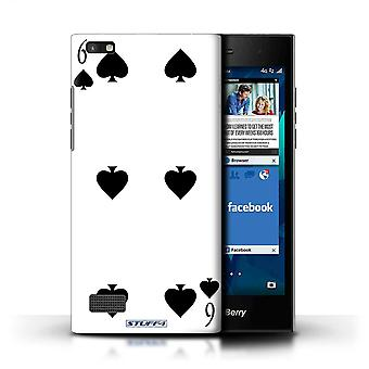 STUFF4 Case/Cover for Blackberry Leap/6 of Spades/Playing Cards