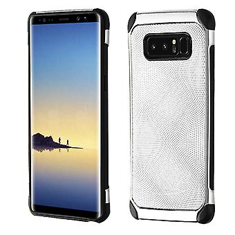 ASMYNA Silver Dots(Silver Plating)/Black Astronoot Protector Cover  for Galaxy Note 8