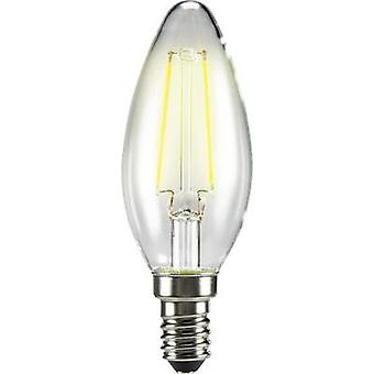 LED E14 Candle 2 W = 25 W Warm white (Ø x L) 35 mm x 99 mm EEC: A++ Sygonix Filament 1 pc(s)