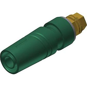 Safety jack socket Socket, vertical vertical Pin diameter: 4 mm Green SKS Hirschmann SAB 2600 G M4 Au 1 pc(s)