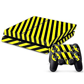 Sticker black/yellow Striped for the PlayStation 4