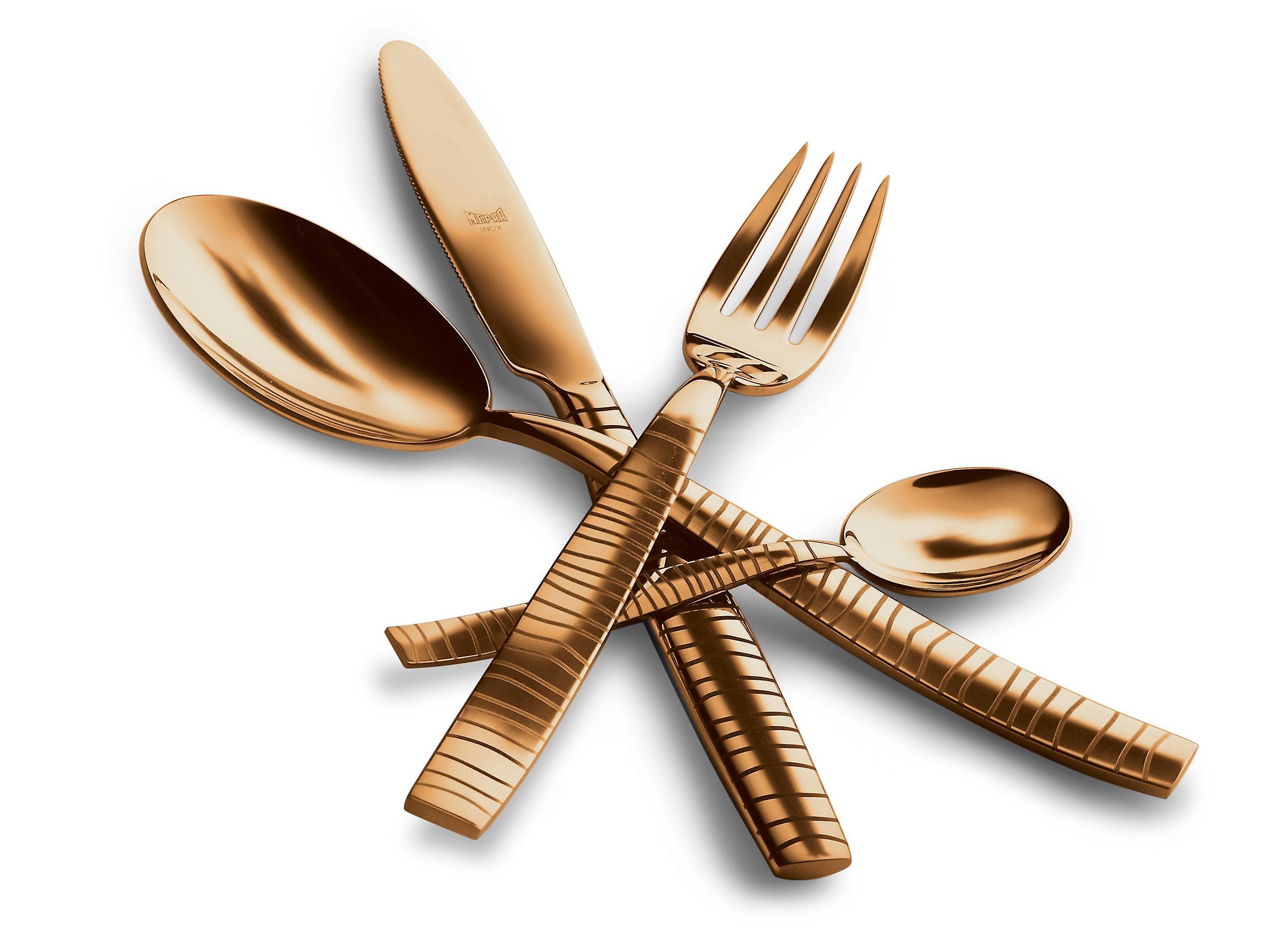 Mepra Tigre Oro 5 pcs flatware set