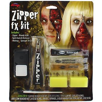 Zipper FX Kit With Zip, Scab, Spirit Gum & Remover - Perfect For Halloween