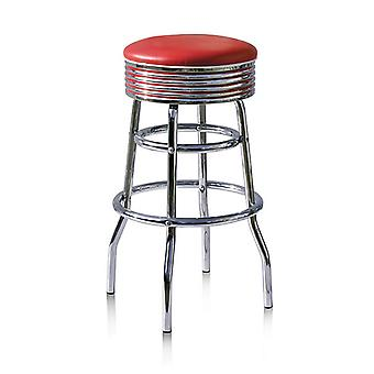 Dakota Quality Kitchen Bar Stool Retro Diner Fifties Padded No Back