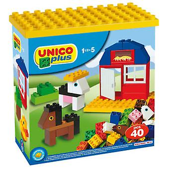 Unico Plus Small Box With 40 Pieces (Toys , Constructions , Bricks And Pieces)