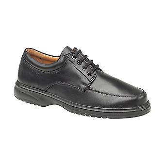 Amblers Bradbury Featherlight Mens Shoes Leather PU Lace Up Fastening Footwear