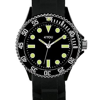 4YOU Herren Uhr Armbanduhr Analog Quarz Silikon 250005001